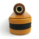 Smoak™ Premium All Natural Tan Leather Smell-proof Case + Hemp Wick & Poker (Smoak Pipe not included) - Smoak Wood Cigar Pipe
