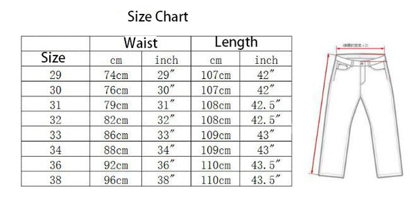 Pwnage Gamer Jeans Size Chart