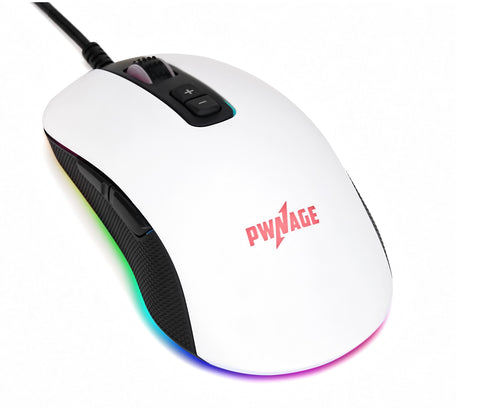 White Pwnage Altier Gaming Mouse - New 3360 optical programmable RGB mouse