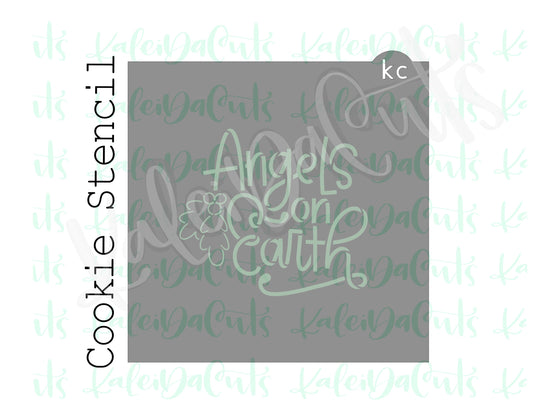 Angels on Earth Lettering Cookie Stencil