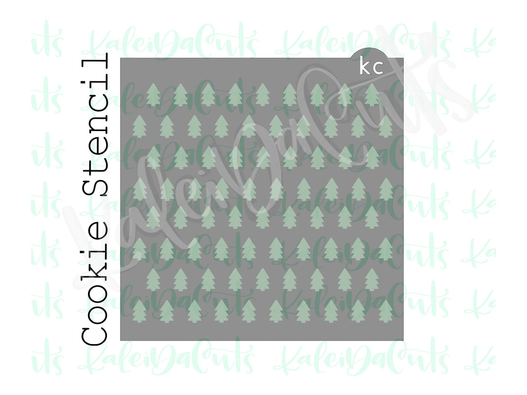 Christmas Trees Pattern Stencil