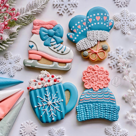 "Kirkie Kookies' ""Snow Day"" Class Set of 4 Cookie Cutters"