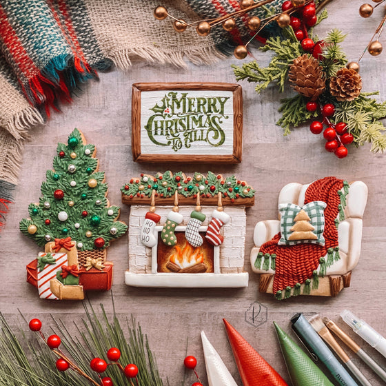 "Kirkie Kookies' ""Cozy Christmas"" Class Set of 4 Cookie Cutters"