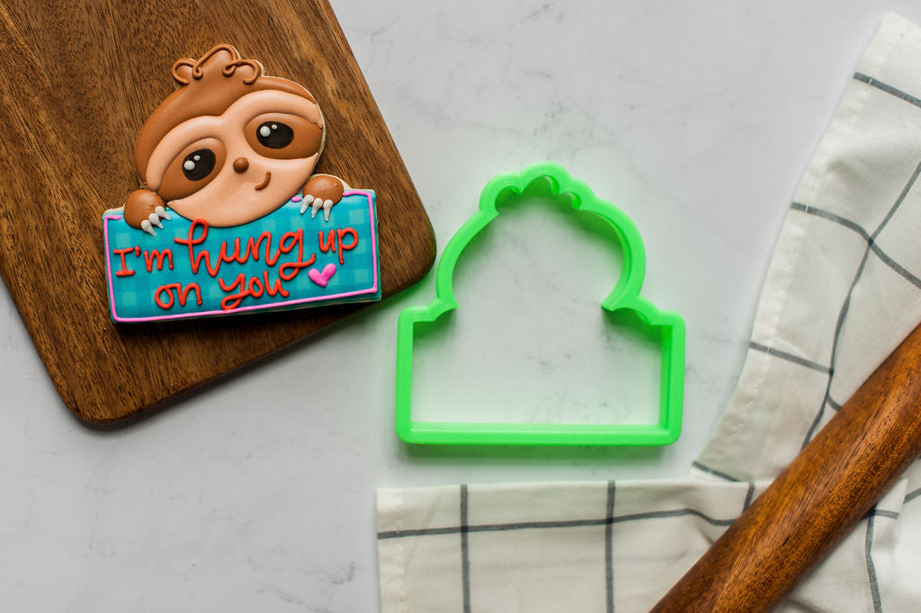 Sloth Plaque Cookie Cutter