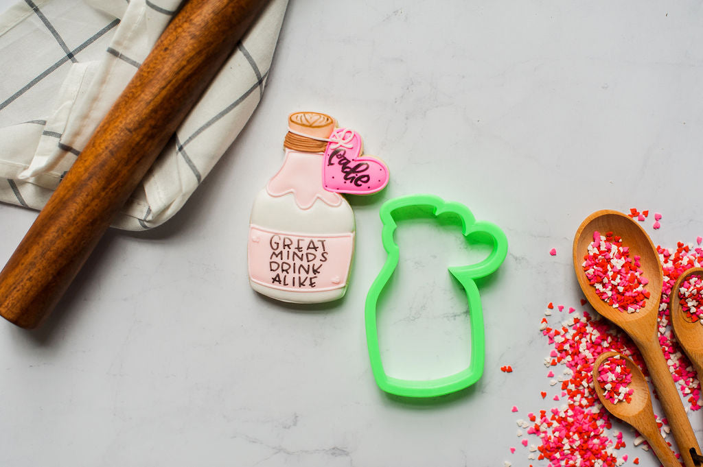 Wine Bottle Heart Cookie Cutter