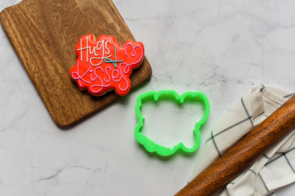 Hugs & Kisses Lettering Cookie Cutter