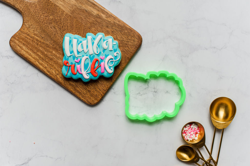 Llama-riffic Lettering Cookie Cutter