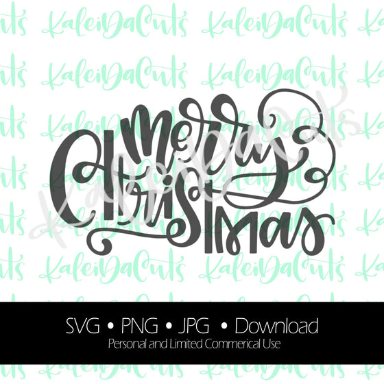 Merry Christmas 2 Digital Download. KaleidaCuts Lettering.