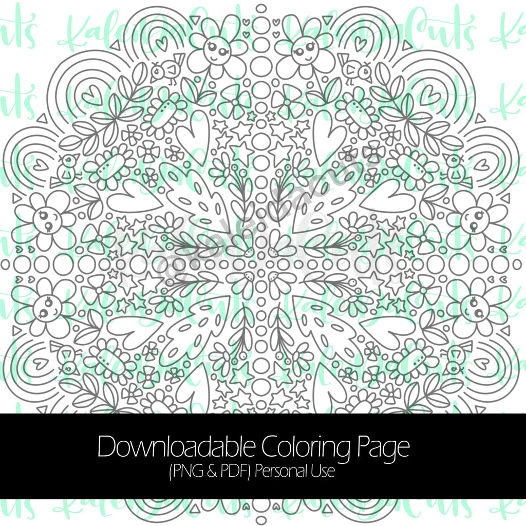 Spring 2020 Mandala Downloadable Coloring Page. Personal Use.
