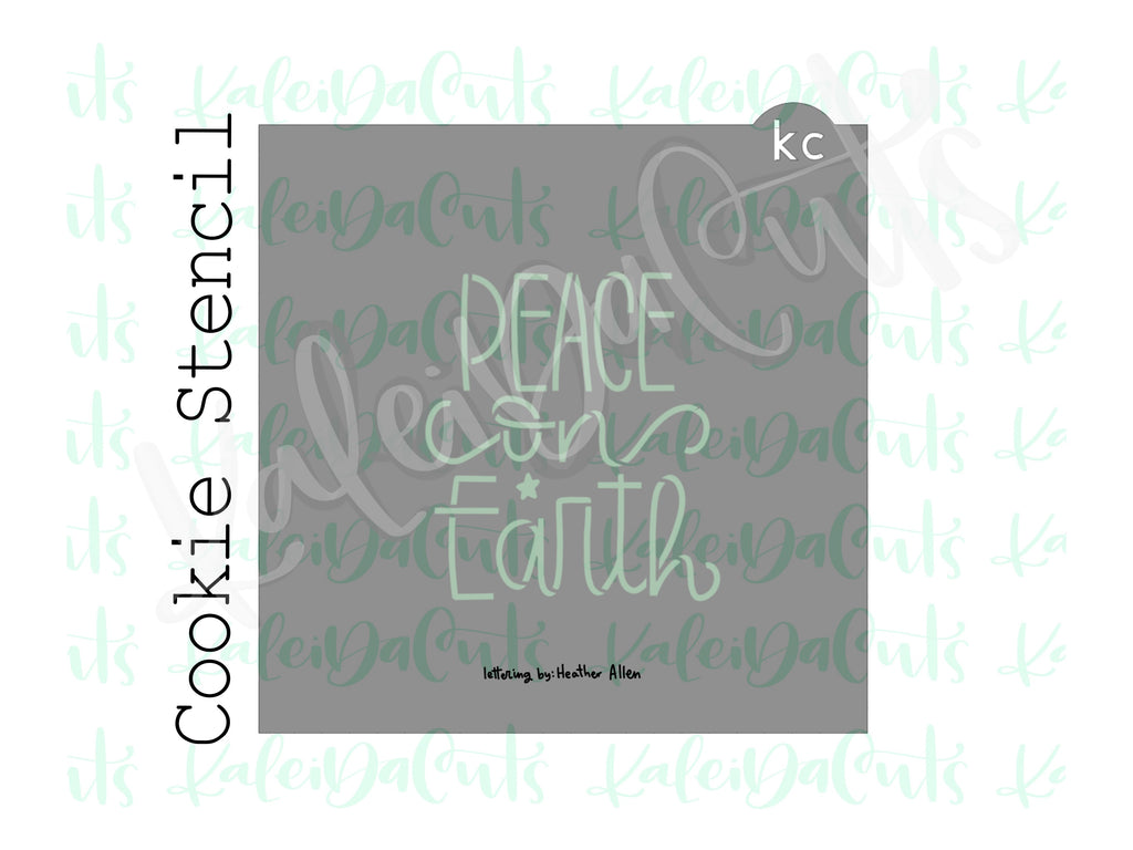 "Tree Silhouette - Peace on Earth Cookie Stencil (matches 4"" cookie cutter)"