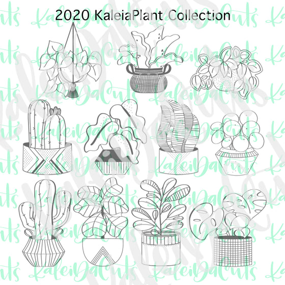 2020 KaleidaPlant Collection Cookie Cutter Set of 11
