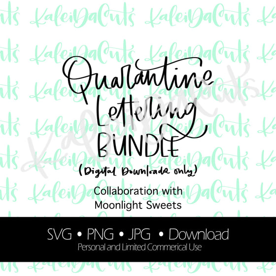 Quarantine Chaos Lettering Bundle Digital Download. SVG.