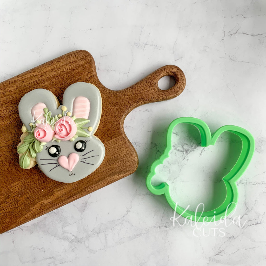 Floral Bunny Face 2019 Cookie Cutter