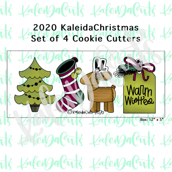 2020 KaleidaChristmas Cookie Cutter Set of 4