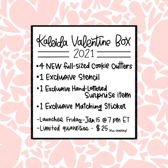 Kaleida Valentine Surprise Box - Please Purchase Separately