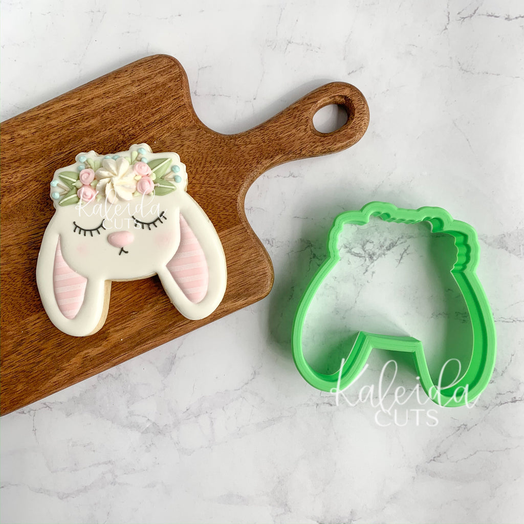 Bunny Face Floral Crown Cookie Cutter
