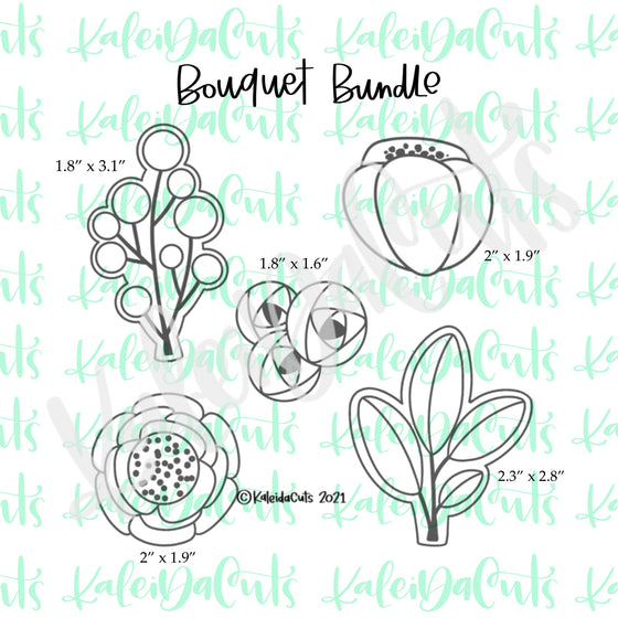 Bouquet Bundle - 5 Cookie Cutters