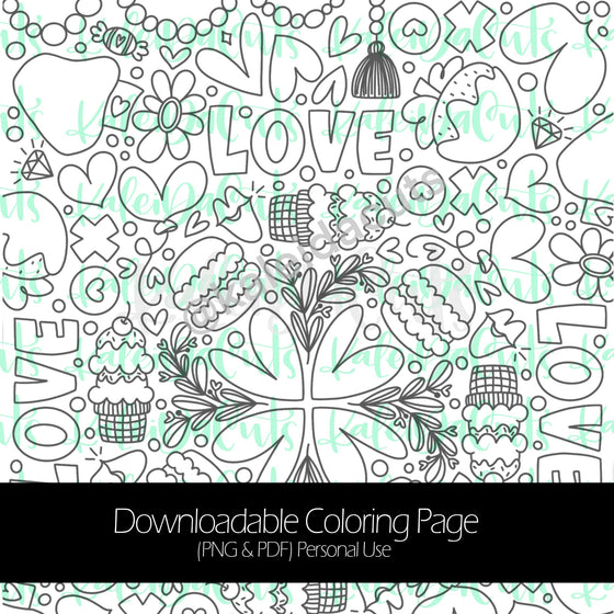Valentine 2021 Downloadable Coloring Page. Personal Use.