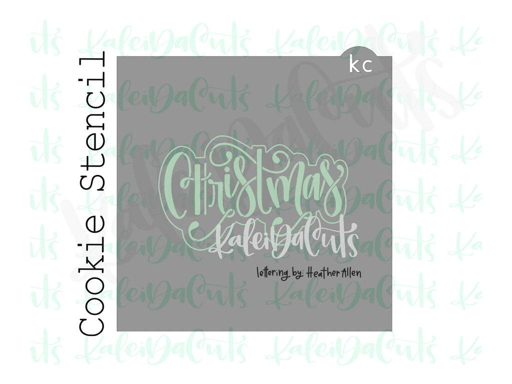 "Christmas Lettering Cookie Stencil (matches 4"" cookie cutter)"