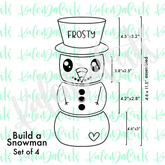 Build a Snowman Set - 4 Cookie Cutters