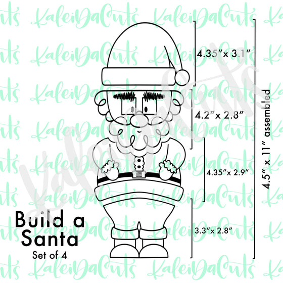Build a Santa Set - 4 Cookie Cutters