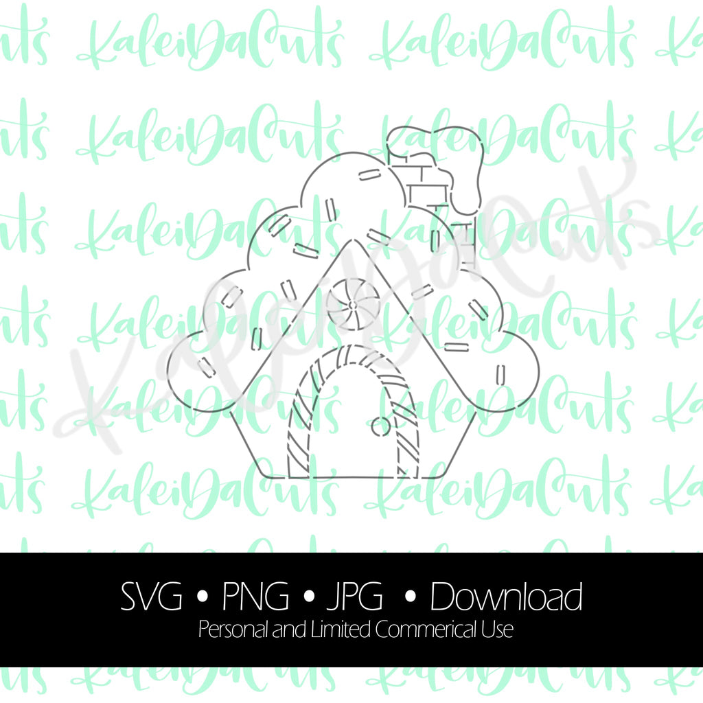 PYO Gingerbread House Stencil Digital Download.