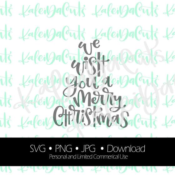 We Wish You A Merry Christmas Lettering Digital Download.