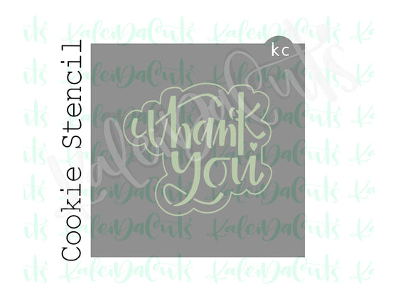 Thank You 2 Lettering Stencil