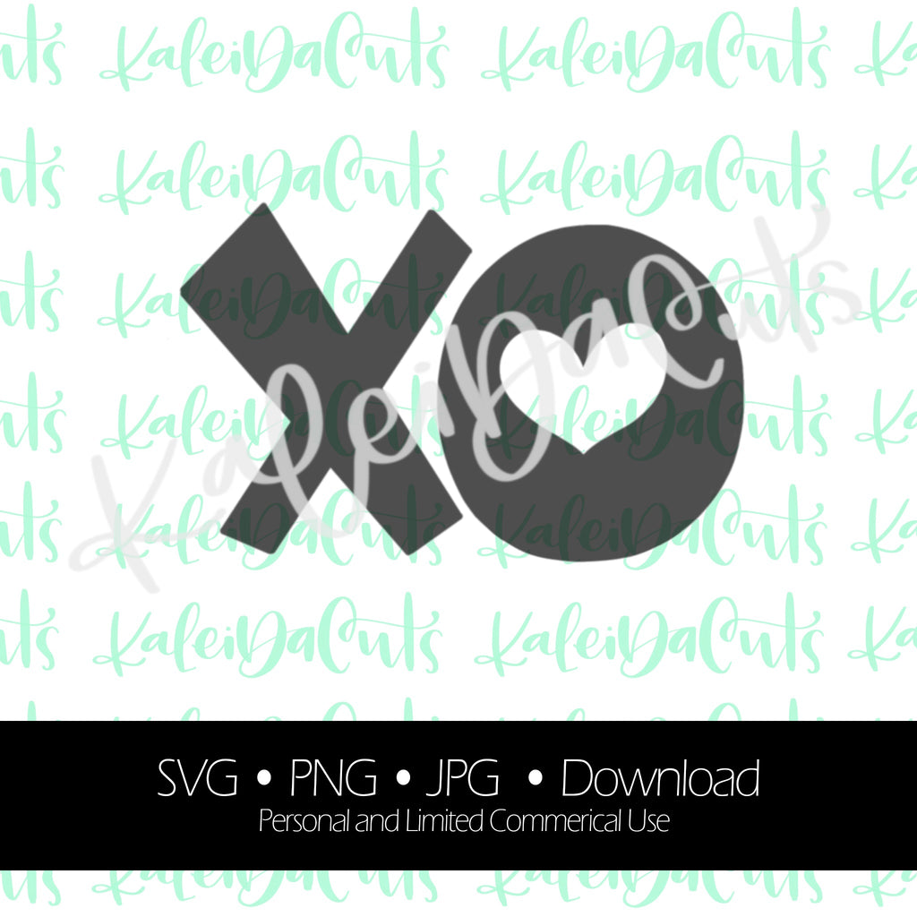 XO. Digital Download. SVG.