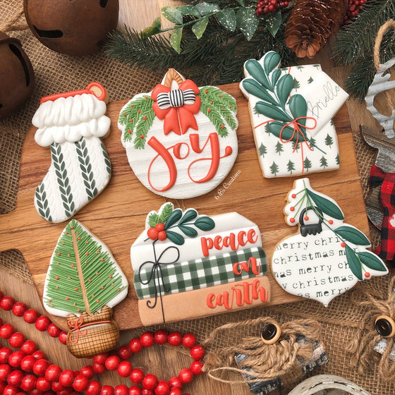 6 B's Creations Christmas Class Set of 6 Cookie Cutters