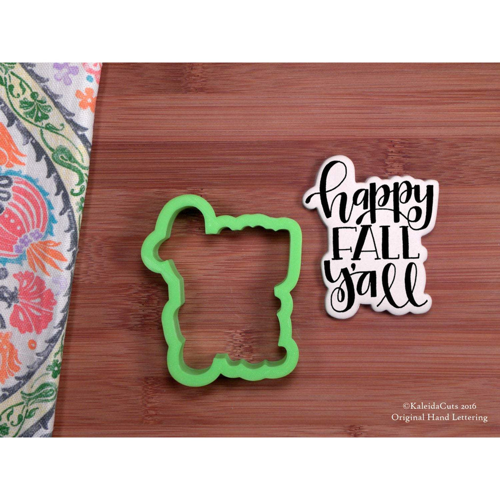 Happy Fall Y'all Cookie Cutter