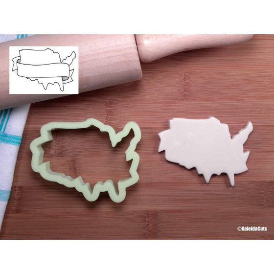 USA Banner Cookie Cutter