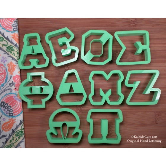 Greek Alphabet Cookie Cutters
