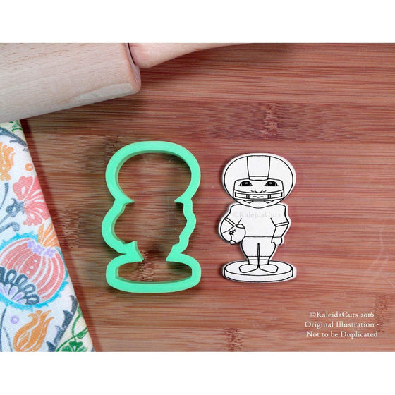 Bobble Head Football Player Cookie Cutter