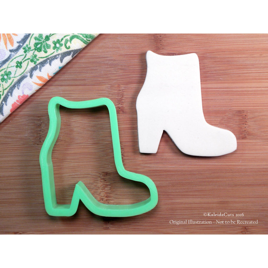 Fall Bootie Cookie Cutter. Girly Cookie Cutter. 3D Printed. Boot Cookie Cutter. Custom Cookies. Sugar Cookies.