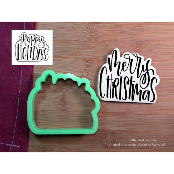 Merry Christmas Lettering Cookie Cutter