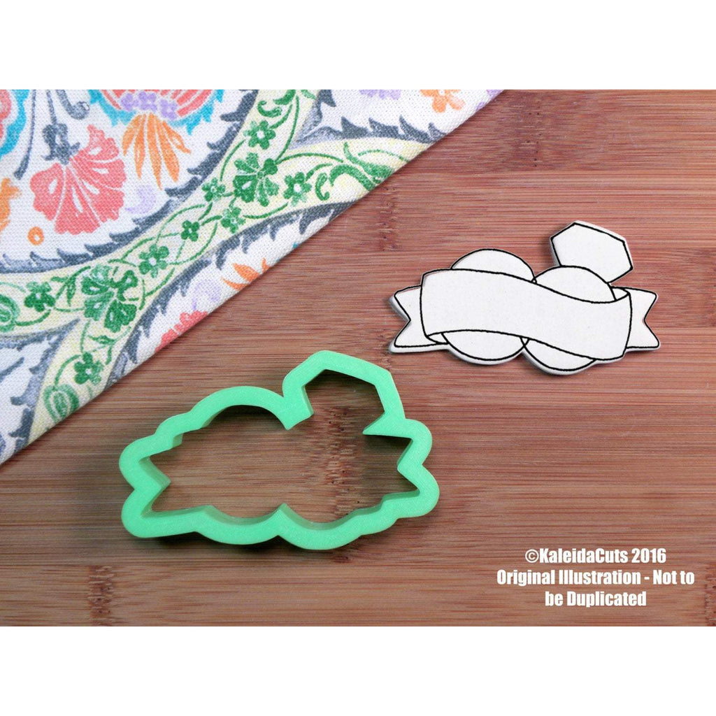 Double Ring Banner Cookie Cutter
