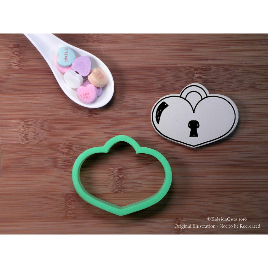 Heart Lock Cookie Cutter