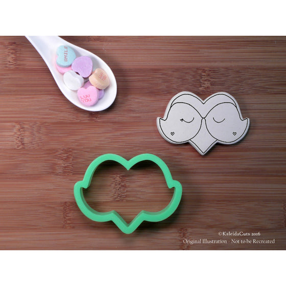 Love Bird Heart Cookie Cutter