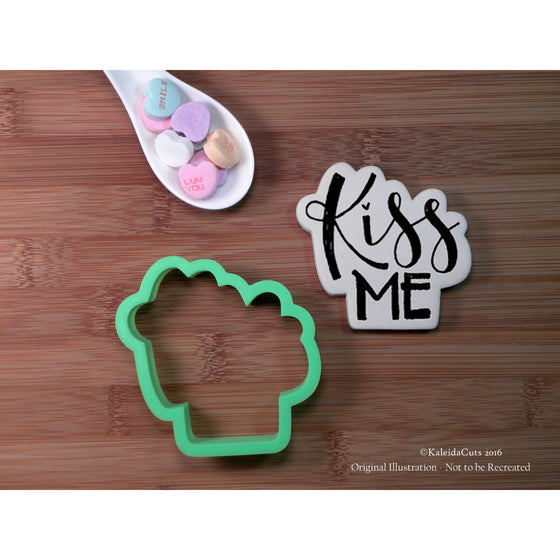 Kiss Me Hand Lettered Cookie Cutter
