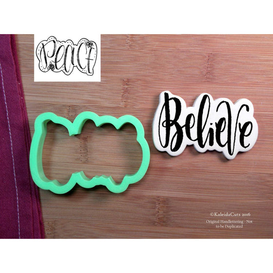 Believe (Peace) Lettering Cookie Cutter