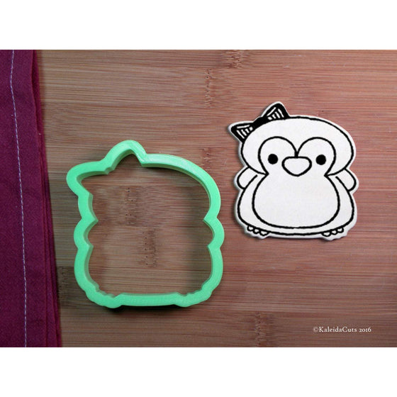 Girly Penguin Cookie Cutter