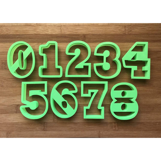 "4"" Number Cookie Cutters"