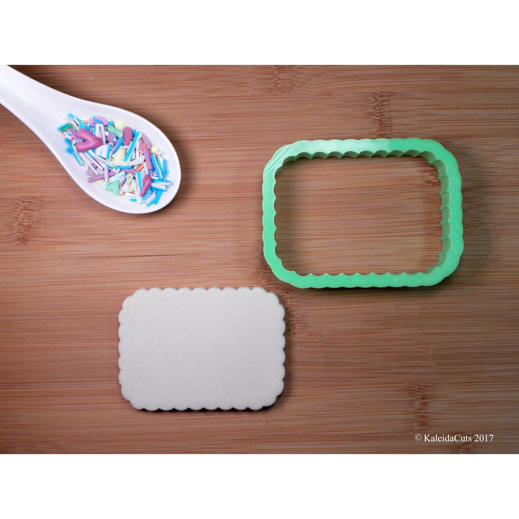 Scalloped Rectangle Cookie Cutter