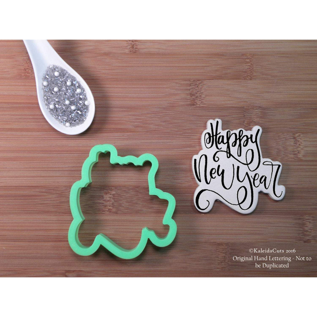 Happy New Year Lettering Cookie Cutter