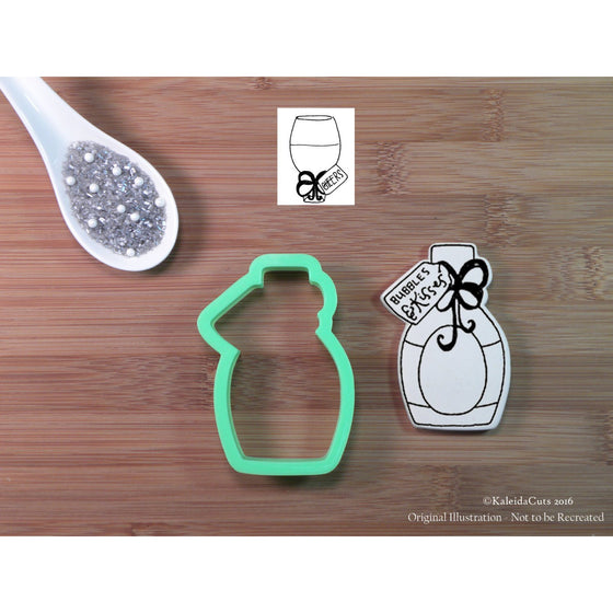 Bottle with Tag Cookie Cutter