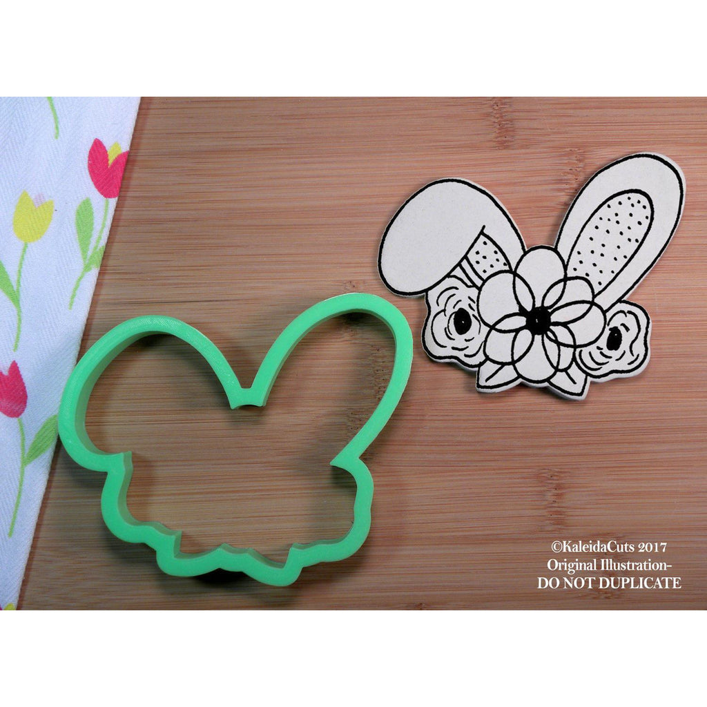 Bunny Flower Crown Cookie Cutter