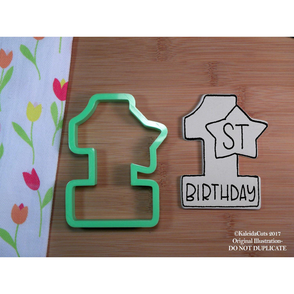First Birthday Cookie Cutter