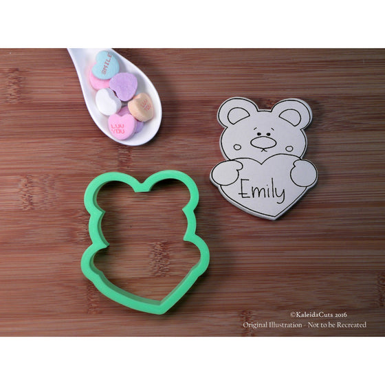 Bear Heart Plaque Cookie Cutter