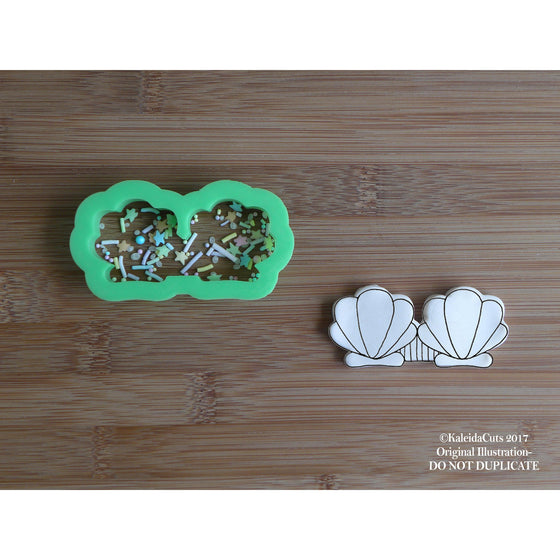 Mermaid Bra (narrow) Cookie Cutter